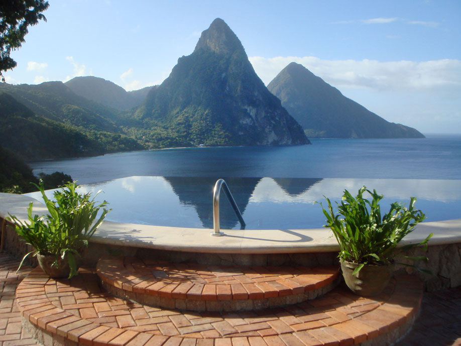 65ft Infinity Pool with Amazing View of the Majestic Pitons